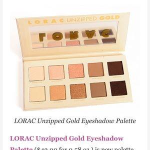 New in box lorac palette unzipped gold